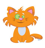 Smile comic cat Royalty Free Stock Images