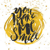 Smile concept inspirational phrase.Smiles are always in fashion. Royalty Free Stock Image