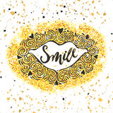 Smile concept inspirational phrase.Smiles are always in fashion. royalty free illustration