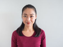 Smile and confidence woman. Smile and confidence Asian woman standing and look at camera Stock Photo