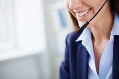 Smile of consultant Stock Images
