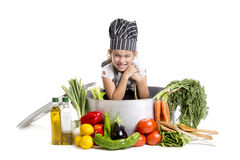 Smile cooking Stock Photo