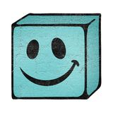 Smile cube face Stock Images