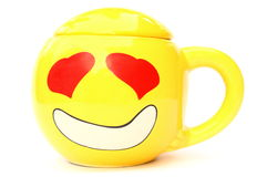 Smile cup. And love design Royalty Free Stock Image