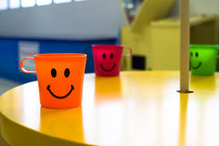 Smile cup. Happy smile cup group background Stock Photos