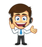 Smile customer support. Clipart picture of a customer support cartoon character Royalty Free Stock Photography
