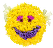 Smile. Decoration from natural flowers. Stock Photos