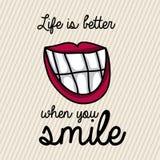 Smile design Stock Photo