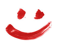 Smile drawn with a brush strokes Stock Images