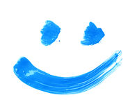 Smile drawn with a brush strokes Royalty Free Stock Photos