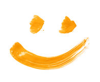 Smile drawn with a brush strokes Stock Photo
