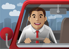 Smile driver at the city Royalty Free Stock Images