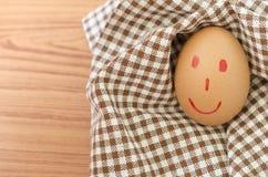 Smile egg Stock Image