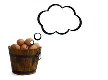 Smile egg thinking Stock Images