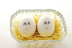 Smile eggs Royalty Free Stock Images