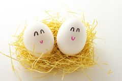 Smile eggs Royalty Free Stock Photo