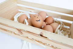 Smile Eggs Royalty Free Stock Photography