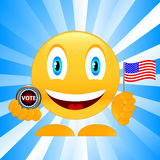 Smile on elections Stock Photography