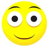 Smile emoji face icon with open mouth Royalty Free Stock Photography