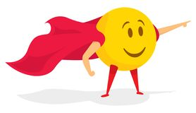 Free Smile Emoji Super Hero With Cape Royalty Free Stock Photos - 137635738