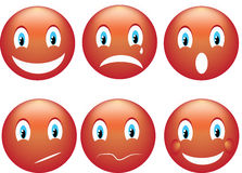Smile emoticon Stock Photo