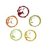 Smile emoticon. Vector illustration of emoticon (smile) on white back ground vector illustration