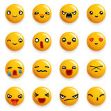 Smile Emoticon Icons Set Isolated 3d Realistic Design Vector Illustration Stock Photo