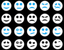 Smile and emotion icons Stock Photos