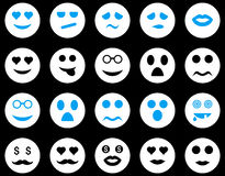 Smile and emotion icons Royalty Free Stock Photos