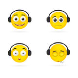 Smile emotions headphones. Stock Image