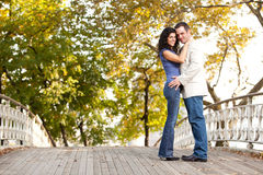 Smile Engagement Couple Stock Photo