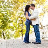 Smile Engagement Couple Stock Photography