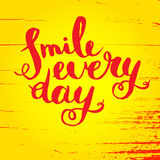Smile every day. Inspirational quote poster. Stock Photography