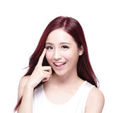 Smile eye care woman