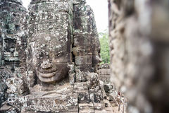 Smile face in Angkor Thom, Siem Reap, Cambodia Royalty Free Stock Images