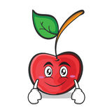 Smile face cherry character cartoon style. Vector illustration Stock Images