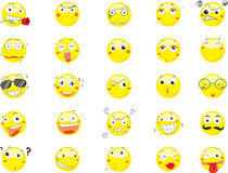 Smile face icons stock illustration