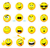 Smile face icons. Illustration of smile face icons Stock Photography