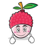 Smile face lychee cartoon character style. Vector illustration Royalty Free Stock Photo