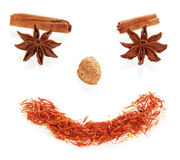 Smile face made from spices Stock Photo