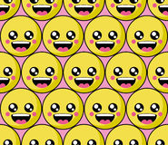 Smile face pattern with colourful smileys. Smiles icon background Stock Photography