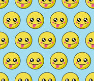 Smile face pattern with colourful smileys. Smiles icon background. Royalty Free Stock Images