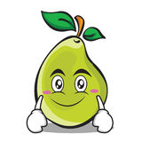 Smile face pear character cartoon. Vector illustration Stock Photos