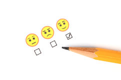 Smile face and pencil Royalty Free Stock Image