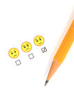 Smile face and pencil Stock Image