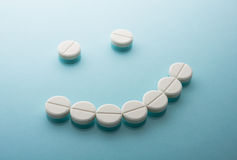 Smile face  from pills Royalty Free Stock Images