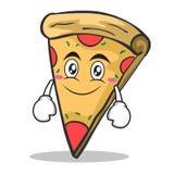 Smile face pizza character cartoon. Vector illustration Royalty Free Stock Photos