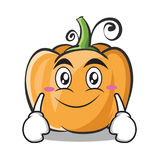 Smile face pumpkin character cartoon style. Vector illustration Royalty Free Stock Image