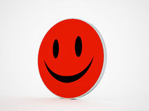 Smile face red rendered Stock Image