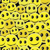 Smile face seamless pattern background Royalty Free Stock Photo
